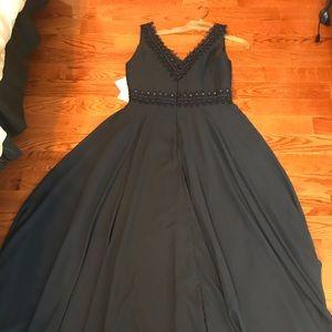 Women's JJ's House navy blue long dress size 14